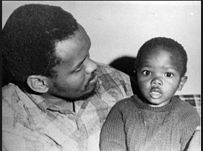 Biko with his son Samora