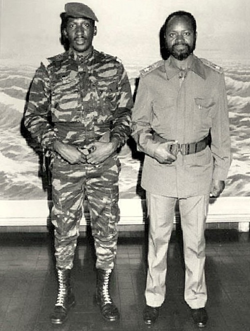 Two of Africa's finest sons and popular leaders: Captain Thomas Sankara and Samoa Machel (president of Mozambique)