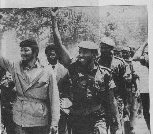 Best friends, Flight Lieutenant Jerry Rawlings (Ghana) and Captain Thomas Sankara